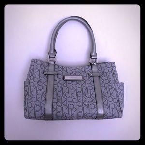 NWT Calvin Klein Hudson satchel bag monogram